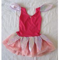 Fada - Fantasia rosa com folhas brilhantes no ombro e saia. - 2 anos - Brink Model