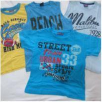 Verão!! 3 regatas + 1 camiseta - Tam 4 - 4 anos - Boomy