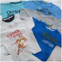 6 Camisetas!!! Tam 3 - Ótimo para o dia a dia - 3 anos - Disney e Outros