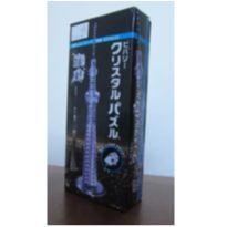 [NOVO] Quebra Cabeça 3d Cristal Lilás - Tokyo Sky Tree -62peças -  - Não informada