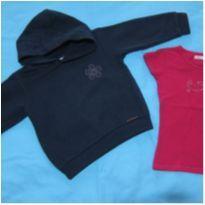 [Kids&Co e Poim] Agasalho de moletom quentinho  e blusinha pink - 2-3 anos - 24 a 36 meses - Não informada