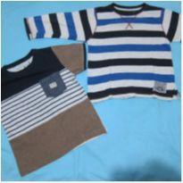[Rebel] 1 camiseta manga curta com bolso e 1 camiseta manga longa - Tam 3-4 anos - 3 anos - Rebel