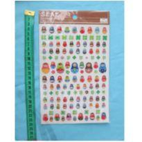 [Novo] Cartela de adesivos com relevo de bonequinhas e trevos! -  - Daiso Japan