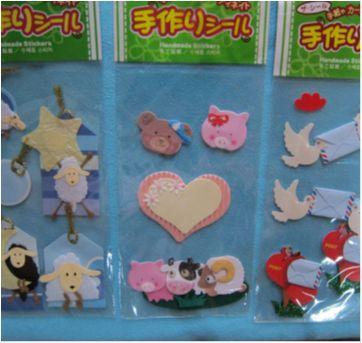 [Novo] 6 cartelas de adesivos decorados e fofos!! Importados - Sem faixa etaria - Daiso Japan