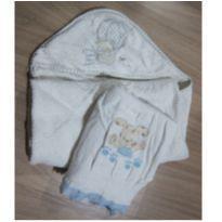 Para Bebê! Toalha fofinha com Touca  e Toalha Fralda com Bichinho bordado -  - Indefinida