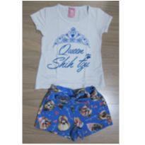 [Cativa Kids] Lindo Conjunto camiseta e shorts - Cãozinho Shih Tzu - Tam 3 - 3 anos - Cativa