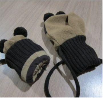 Luvas Guaxinim - Divertido, quentinho, protege as mãozinhas. - Sem faixa etaria - Não informada