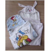 2 Toalhas com Capuz  e Fralda - Delicado para bebês e crianças! -  - Não informada
