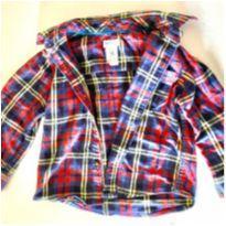 Camisa manga comprida, xadrez, Carter´s