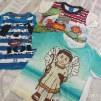 Kit camisetinhas de 1 ano - 1 ano - Várias