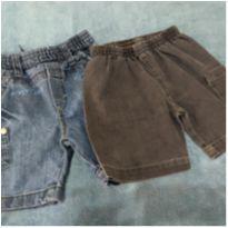 Dupla de shorts jeans - 1 ano - Várias