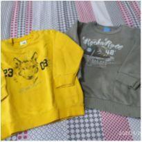 Dupla de blusas de moletom da Malwee - 3 anos - Malwee