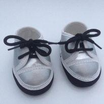 Sapatinho Importado Prateado Bebe 0 a 3 meses - 13 - Imports Baby