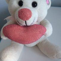 Urso Coração de Glitter