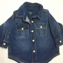 Camisa Jeans manga longa Baby Gap - 3 a 6 meses - Baby Gap