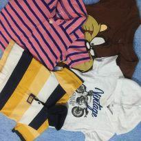 Lote de camisetas Carters , puc - 6 a 9 meses - Carter`s e PUC