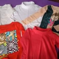 Lote de 5 camisas manga longa - 18 a 24 meses - Várias