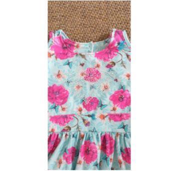 vestido florido tam 8 - 7 anos - Kiki Xodó