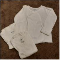 Kit 3 casaco transpasse Carters 3M - 3 meses - Carter`s e CARTERS/TIPTOP/ZARA