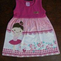 Vestidinho rosa - 1 ano - For Girl