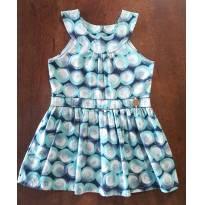 Vestidinho Azul - 12 a 18 meses - Brandili