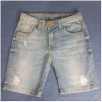 Bermuda Jeans com poídos - 12 anos - Taco
