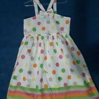 Vestido estampado em tecido - 6 anos - Alphabeto