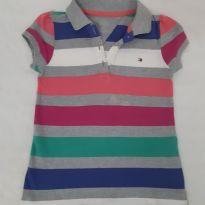 Camisa Polo Tommy listrada - 4 anos - Tommy Hilfiger