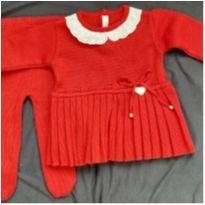 Saída maternidade tricot vermelha - Paola Da Vinci - Recém Nascido - Paola Da Vinci