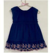 Vestido Azul Gap Baby - 6 a 9 meses - Baby Gap