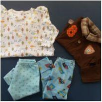 kit bebê menino - 0 a 3 meses - Não informada