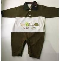 Macacão Longo Malha - 0 a 3 meses - Kiguri baby