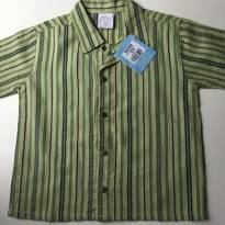 Linda camisa Tilly Baby, listrada verde com botões de pressão T2 - 12 a 18 meses - Tilly Baby