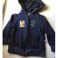 Jaquetinha em malha forrada super quentinha azul - 4 anos - Não informada