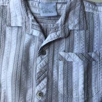camisa listrada cinza  e branca da Prima Linea. Tamanho 2 - 2 anos - prima linea