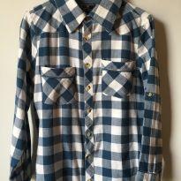 Camisa xadrez de flanela manga longa Tam 8 - 8 anos - Não informada