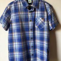 camisa xadrez puc , manga curta tamanho 10 - 10 anos - PUC