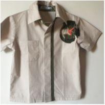 Camisa Social  Cáqui Trick Tam.2 - 18 a 24 meses - Trick
