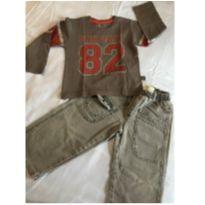 Conjunto Calça Black Jeans e Camiseta Manga Longa - 3 anos - Bnn kids