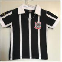 Camiseta Infantil Corinthians Retro Oficial Tam 4 - 4 anos - Corinthians oficial