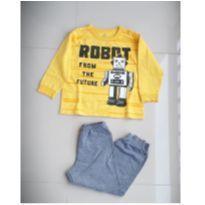 Pijama de moletom do robô - 4 anos - Brandili