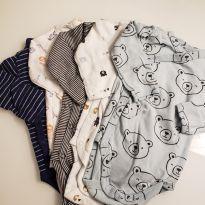 Combo de body Kimono Carter`s (6 meses) - 6 meses - Carter`s