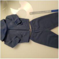 Conjunto de moletom azul marinho (3 a 6 meses)