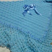Manta de lã - 0 a 3 meses - nenhuma