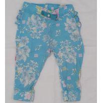 Calça azul floral - 6 a 9 meses - Colorittá