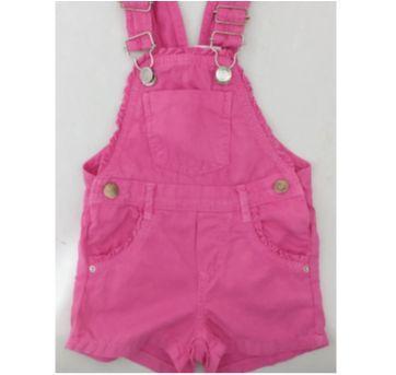 Jardineira Pink menina BabyClub - 2 - 2 anos - Baby Club