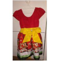 Vestido infantil Magali festa Luxo - 1 - 1 ano - Não informada
