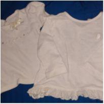Kit 2 camisetinhas manga longa menina. 9-12 m - 6 a 9 meses - Milon e Teddy Boom