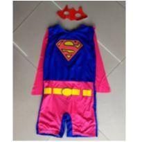 Fantasia infantil super girl - tamanho 6 - 6 anos - Sem marca