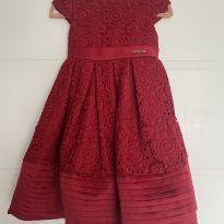Vestido Festa Animê Pétit Vermelho - 2 anos - Amimê